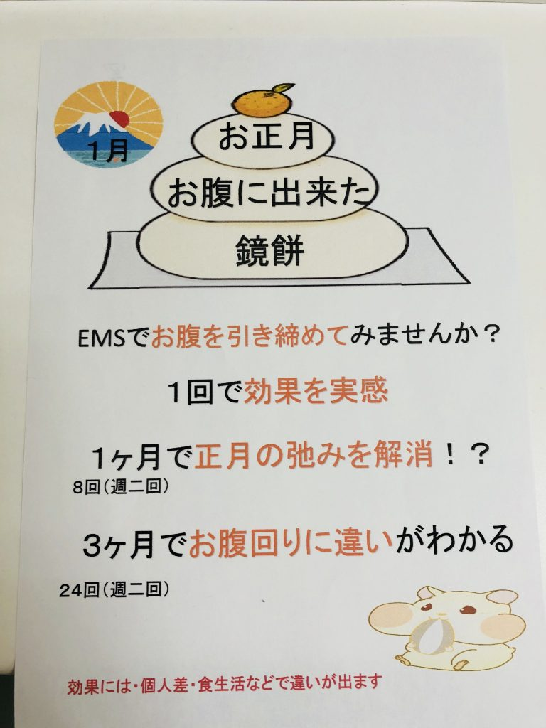正月 EMS POP